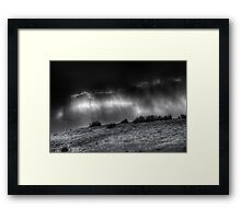 Storm Ridge Framed Print