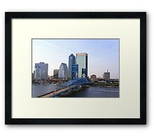 Blue Bridge Jacksonville Florida Framed Print