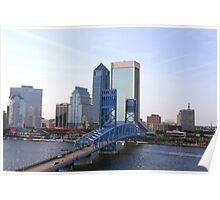 Blue Bridge Jacksonville Florida Poster