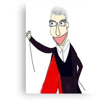 The Twelfth Doctor Muppet Style Canvas Print