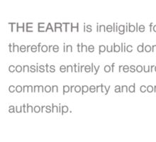 THE EARTH (COPYRIGHT  Series) Sticker