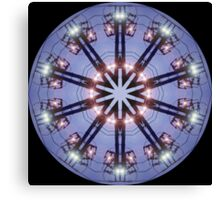 Electric Wire Kaleidoscope Canvas Print