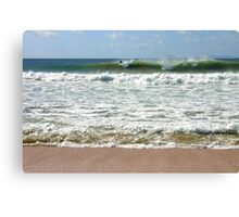 The Surfer-Matauri Bay  Canvas Print