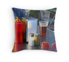"""Waiting for Burgers & Fries"" Throw Pillow"