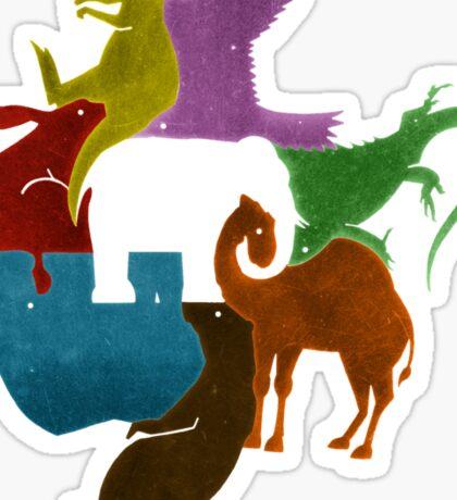 Elephant Puzzle Sticker