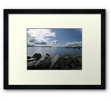 Quiet Day on Saanichton Bay Framed Print