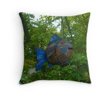 """When fish fly"" Throw Pillow"