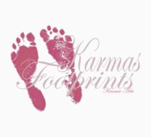 karma arts uk - karmas footprints pink One Piece - Short Sleeve