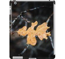 Single Brown Oak Leaf iPad Case/Skin