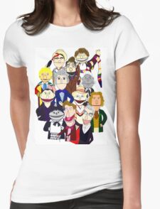 Twelve Doctors Muppet Style Womens Fitted T-Shirt