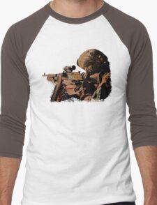 Machine Gunner Men's Baseball ¾ T-Shirt