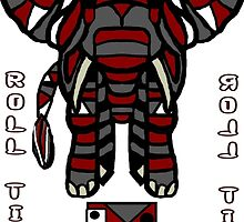 Alabama Elephant in Char Style by Charldia