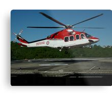 Emergency Helicopter, NSW Metal Print