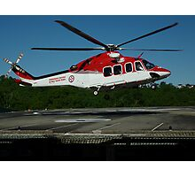 Emergency Helicopter, NSW Photographic Print
