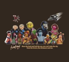Firefrog (Firefly / The Muppets) - Group Shot #1 by James Hance