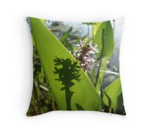 Pickerel Weed and Shadows Throw Pillow