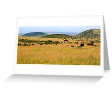 Masai Mara, Kenya Greeting Card