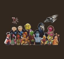 Firefrog (Firefly / The Muppets) - Group Shot #2 (No text) by James Hance