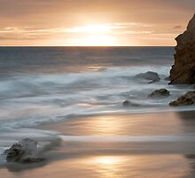 Sunset at El Matador Beach by Mary Ann  Melton