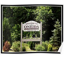Welcome to Oneida (New York) Poster
