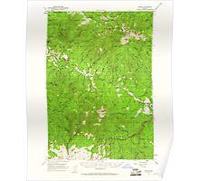 USGS Topo Map Oregon Bates 282239 1951 62500 Poster