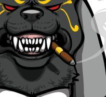 Mobster Anubis bust with cigar Sticker