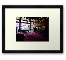 In The Lobby-1927 Style Framed Print
