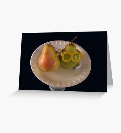 Pear Parody .07 Greeting Card