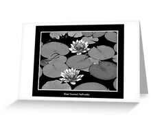 Waterlilies in Black and White Greeting Card