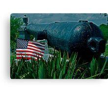 Old Glory/Vigilant Cannon Canvas Print