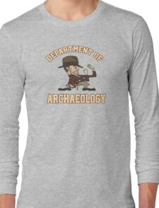 Dept. of Archaeology with Fighting Mascot Long Sleeve T-Shirt
