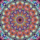 Ornate Colorful Mandala by Phil Perkins