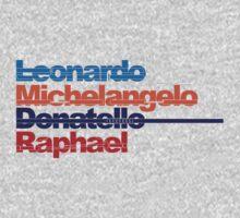 Leonardo, Michelangelo, Donatello, Raphael One Piece - Long Sleeve