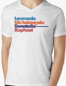 Leonardo, Michelangelo, Donatello, Raphael Mens V-Neck T-Shirt