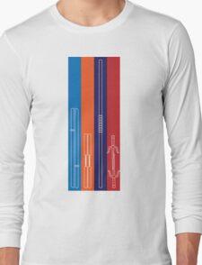 Leonardo, Michelangelo, Donatello, Raphael - Stripes Long Sleeve T-Shirt