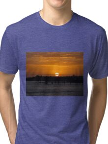 Sunset Over The Water Tri-blend T-Shirt