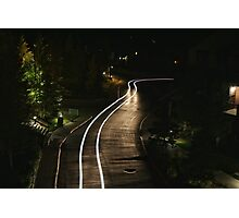 Light Trail Photographic Print