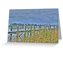 Raymond Terrace Wharf Greeting Card