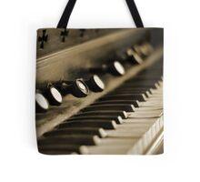 Keys of Ivory - Sepia Tote Bag