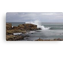 rock fishing  - splash!!! Metal Print