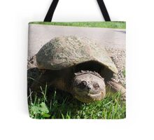 Huge Snapping Turtle Laying Eggs Tote Bag