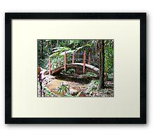 Just a little bridge Framed Print