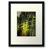 glow..... yellow flame Framed Print