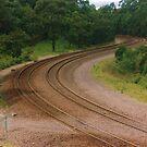 Winding Train Line by Michael John