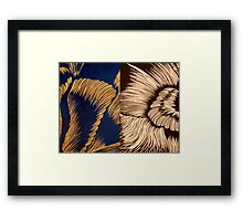 Transition in blue and black Framed Print