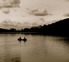 at the lake  by Gregoria  Gregoriou Crowe