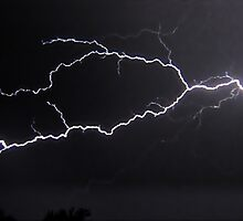 "6/8/2011 Electrical Storm, ""Lightning Strike # 3"" by MJD Photography  Portraits and Abandoned Ruins"