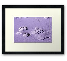 begin with a single step Framed Print