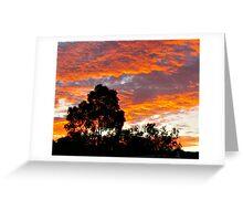 Eltham Red Sky Greeting Card