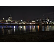 London by Night Photographic Print